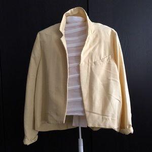 Buttercup yellow open blazer